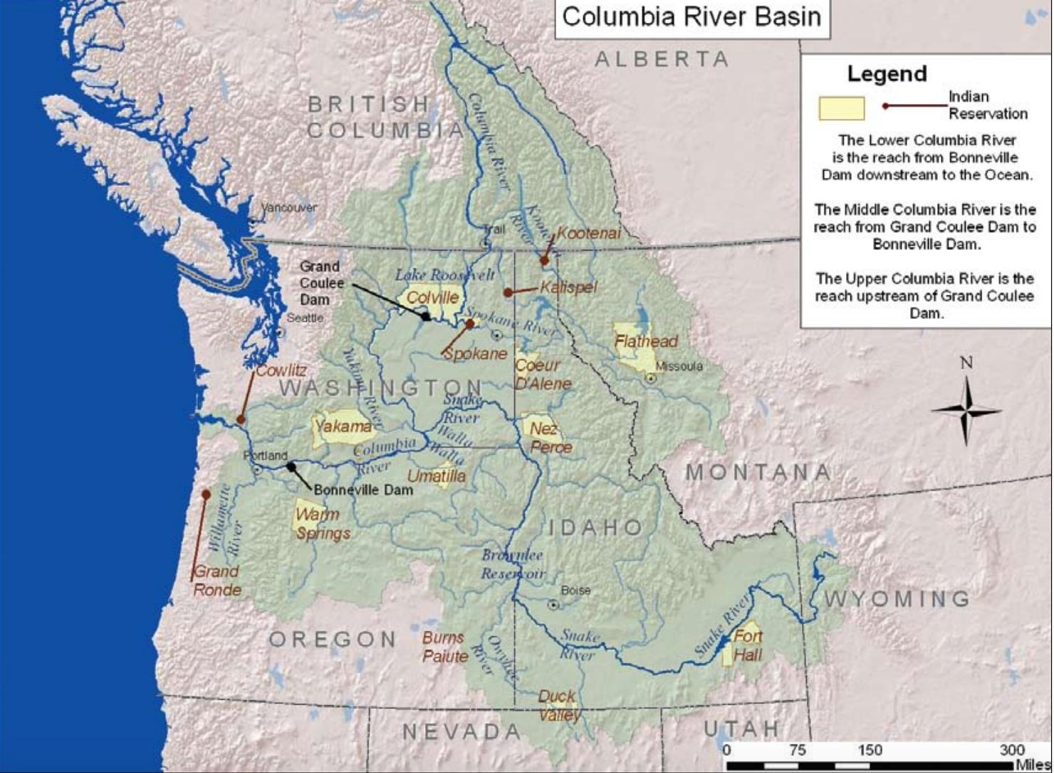 Columbia River Map columbia river map Columbia River Map