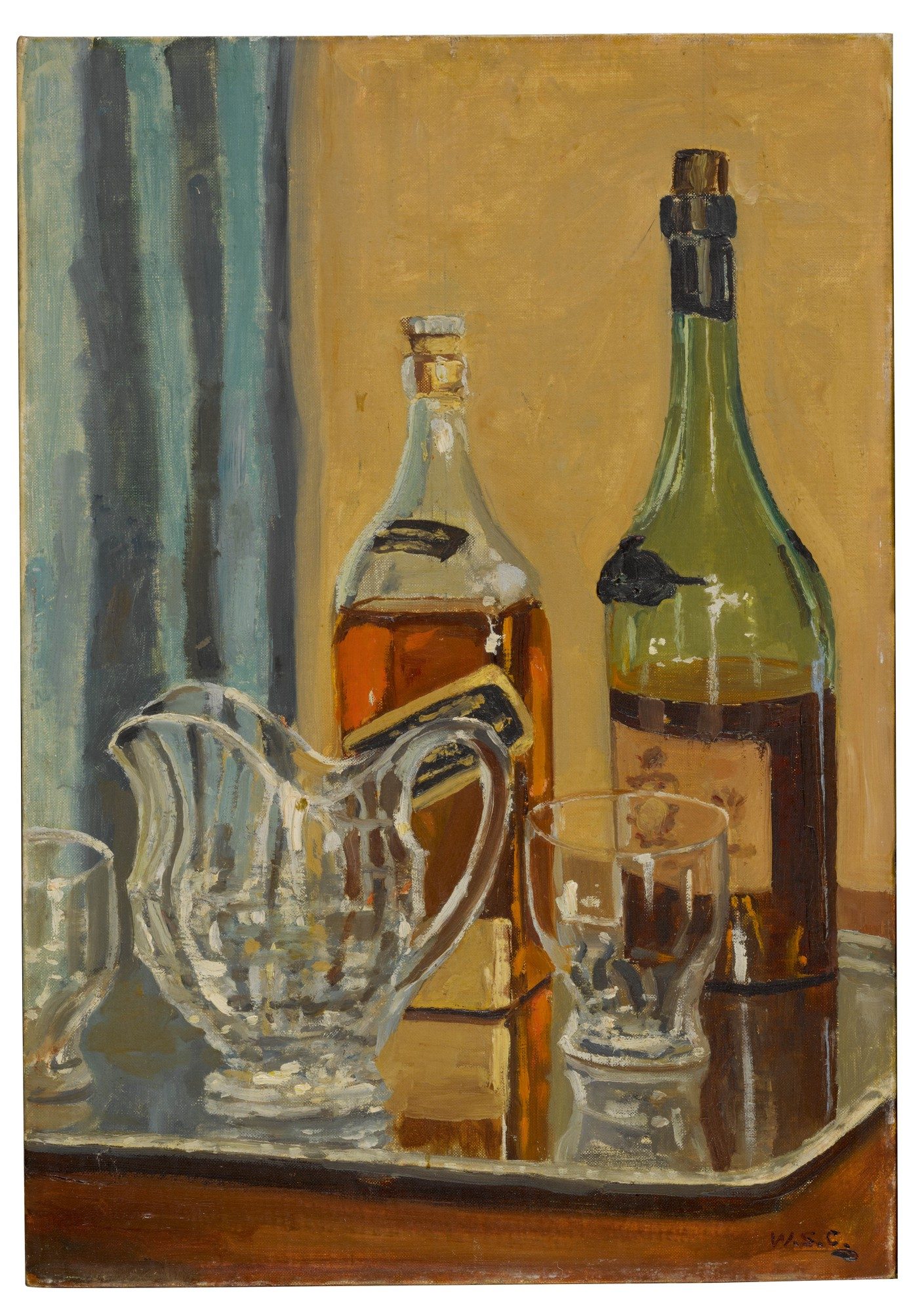 Churchill S Painting Of Favorite Whisky Goes On Sale